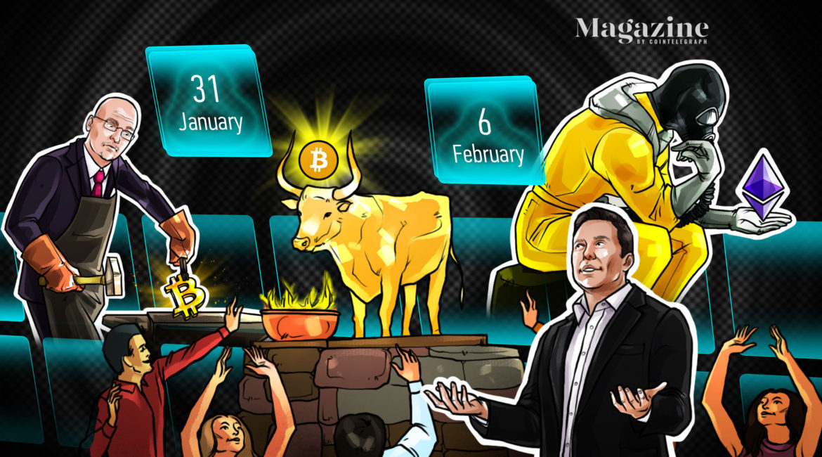 Bitcoin breaks $40,000 and sets its sights on a new all-time high, ETH fees spike as a new price record is set, and Elon Musk really loves Dogecoin.